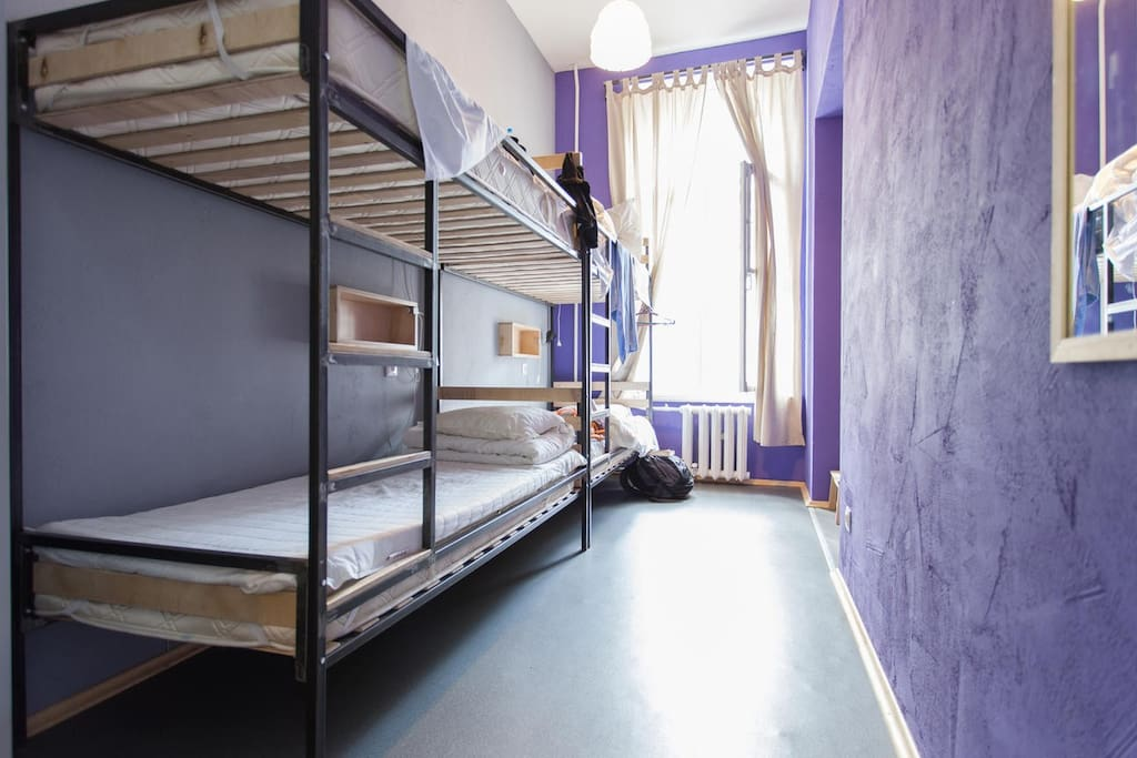4-bed room in Cuba hostel