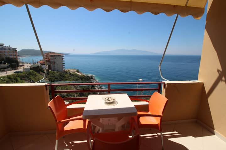 Seafront apartment in best place of Saranda (N 15)