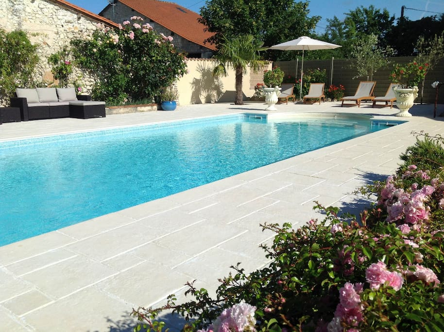10m x 5m pool with steps.