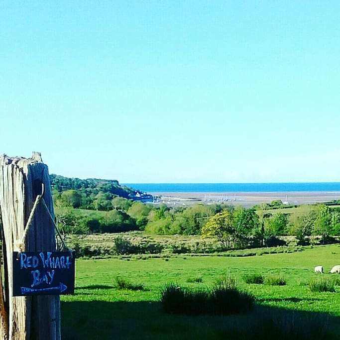 We have fantastic panoramic sea views across the whole of Red Wharf Bay and Llanddona Beach