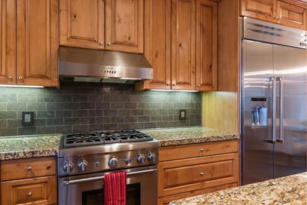 Stove Area.  We also have an indoor Breville grill, extra large slow cooker and more.