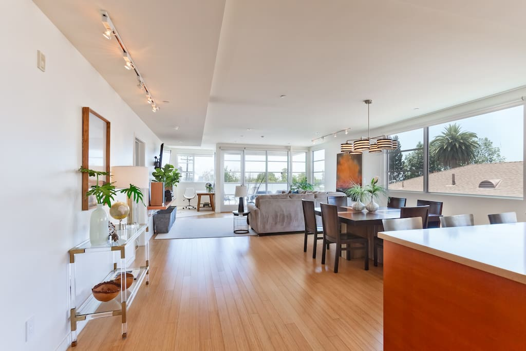 Open Floor Plan features large, spacious areas flooded with gorgeous light from all four sides
