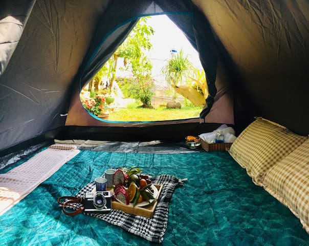 Tent for 2 persons in Wood House Garden Homestay