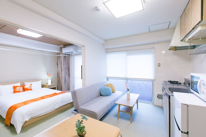 Base Hotel 311 : 5 mins walk Hiroshima Sta 5ppl