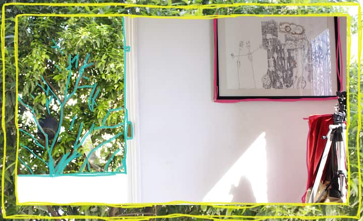 Coquet appartement dans une maison avec jardin
