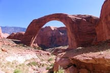 Rainbow Bridge National Mounument on Lake Powell.
