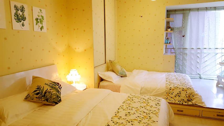 宽窄巷子天府广场 【寓见】美屋 北欧田园家庭房 - Chengdu - Apartament