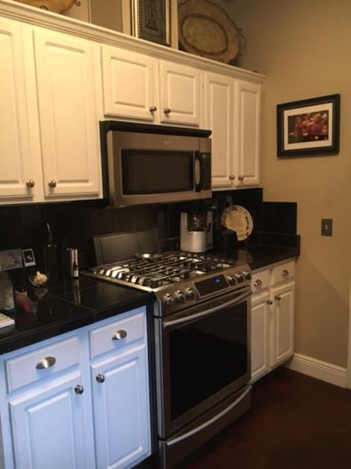 Remodeled Kitchen With Chef Stove