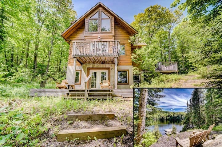 Log Home on Pristine Semi-Pvt. Lake