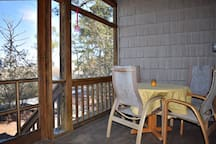 Screened porch off of living room