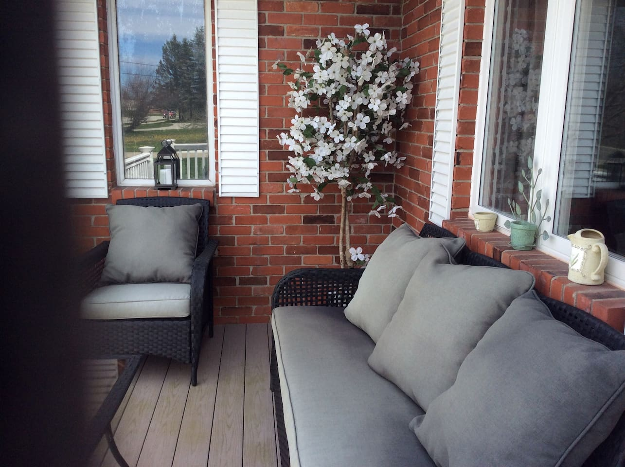 Front Porch Sitting Area for relaxing on nice days!