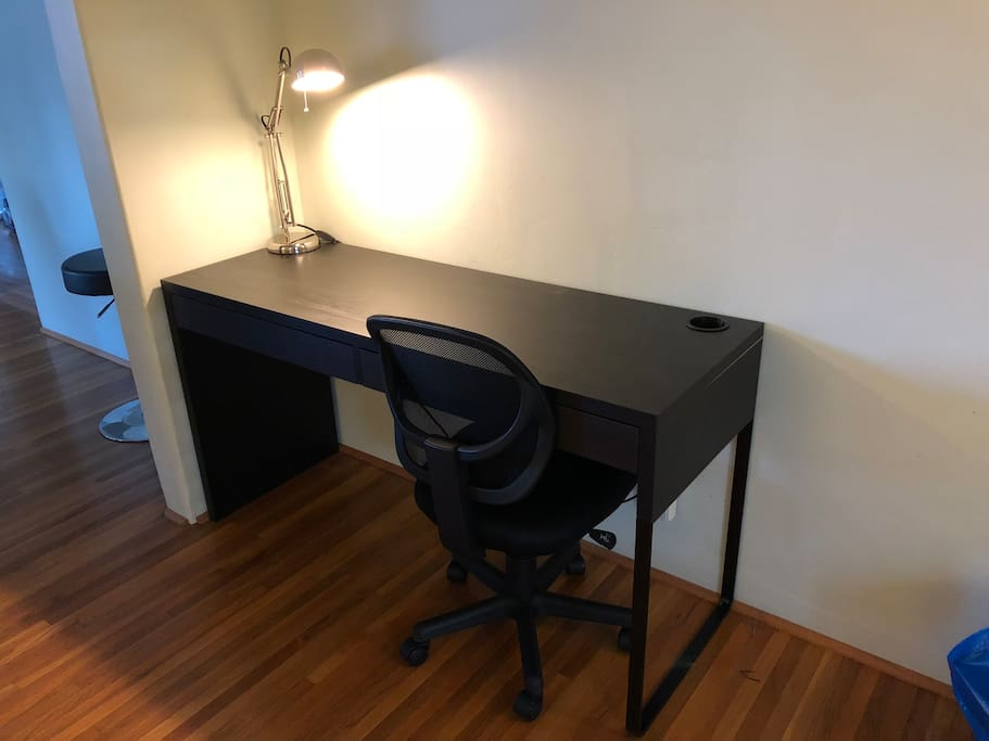 Work area with comfortable work chair