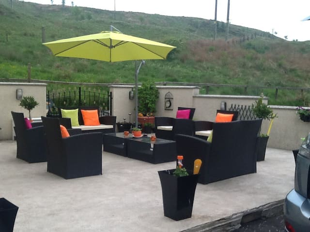 Our patio area for you to relax