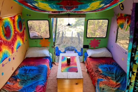 Taos Cool Bus -- Hippy-style glamping