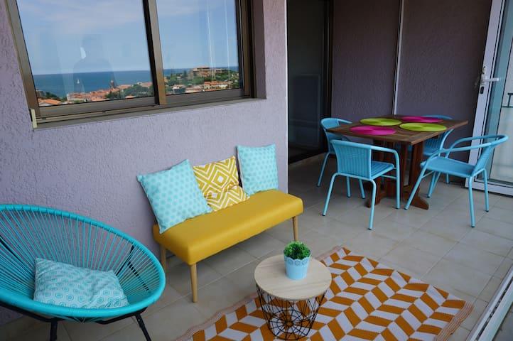 Joli appt F2 garage,terrasse vue mer,