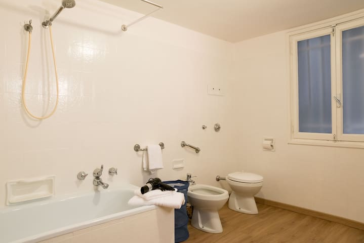 Equipped private bathroom with shower and bath