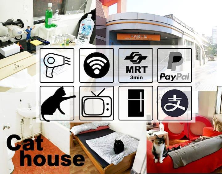 """窩著吧 ~貓咪公寓  """"Cat""""house(捷運3分,便利商店3分)優惠請洽詢!!"""