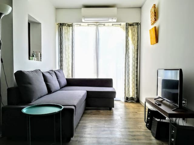 Very comfortable apartment a/c, garden and parking