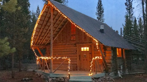 Rustic Little Log Cabin In The Woods