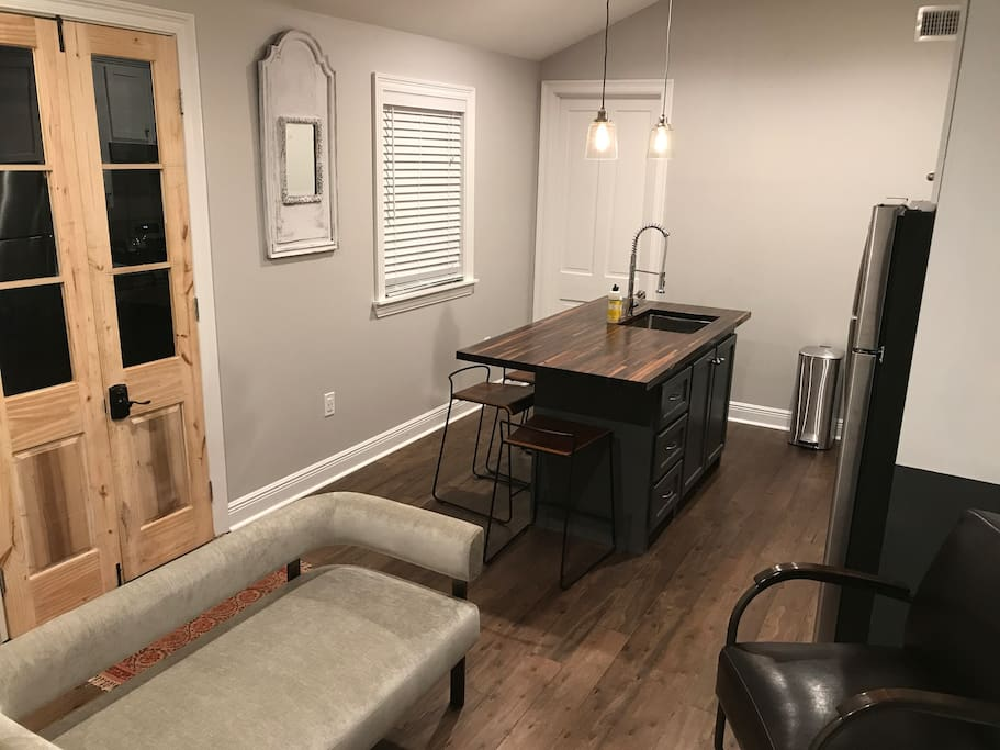Kitchen island dining area