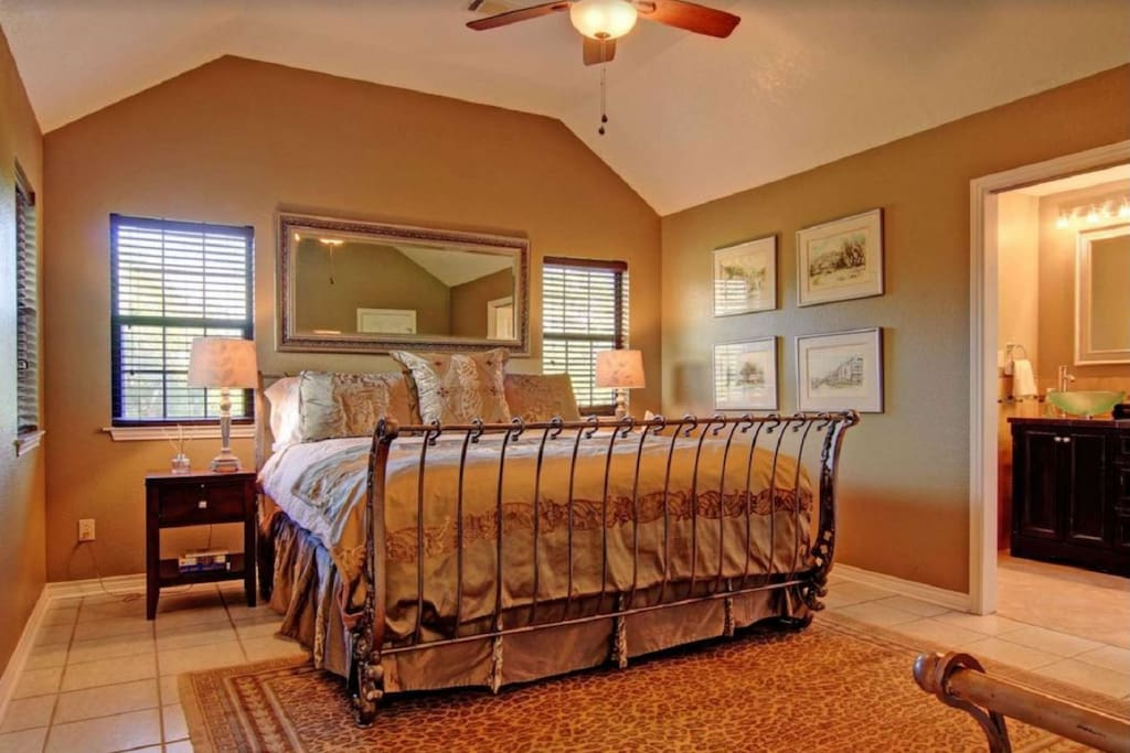 After a long day in the sun, come back and drift away in this cozy master suite!
