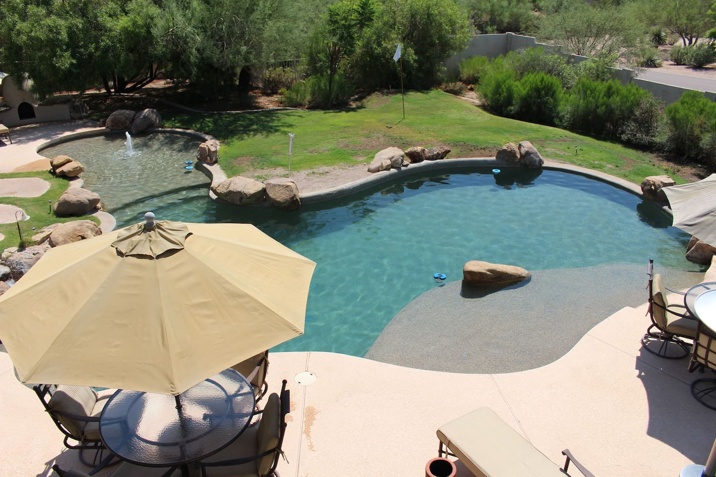 Relax in your private resort type yard in North Scottsdale