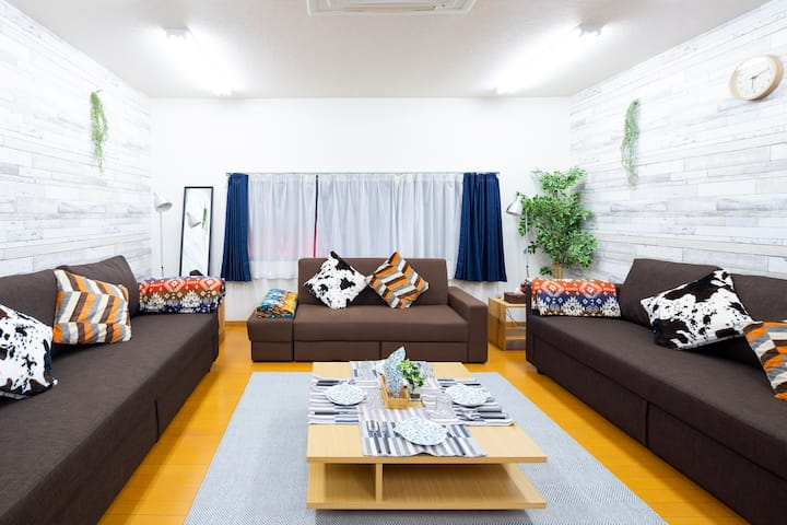 -Central Tokyo- Enjoy Group & Family stay in Tokyo