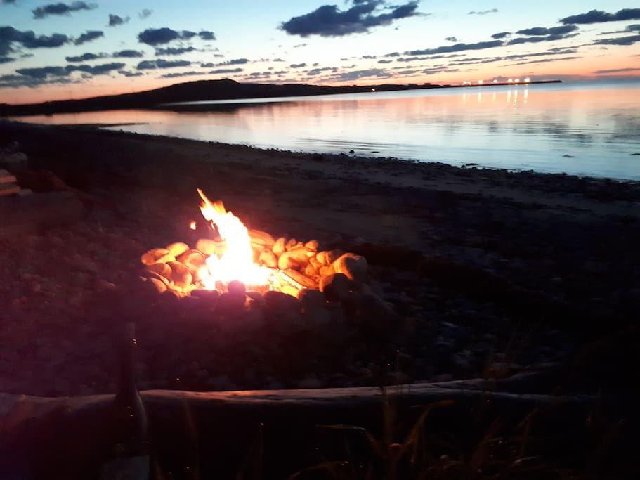 Have a fire on the beach!