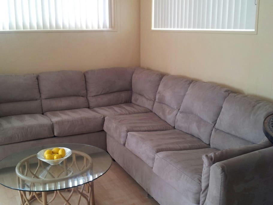 Large couch, sleeps two small adults or children!