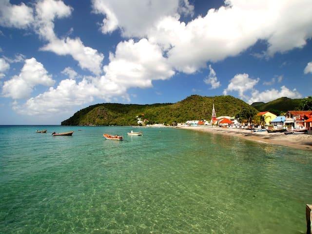 Bourg des Anses d'Arlet, très beau T2, mer à 300 m