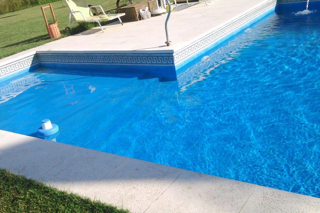 Parte baja de la piscina para ninos
