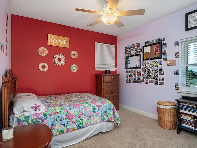 Bedroom #3 with double bed.