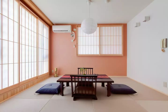 KT1#Modern Japanese style apt / 地铁站1分 京都站6分 榻榻米体验 - Nakagyo Ward, Kyoto - Flat