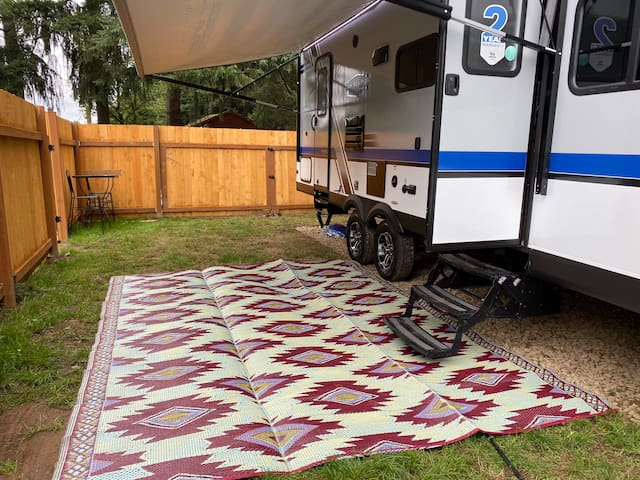Luxury Travel Trailer with Private fenced yard