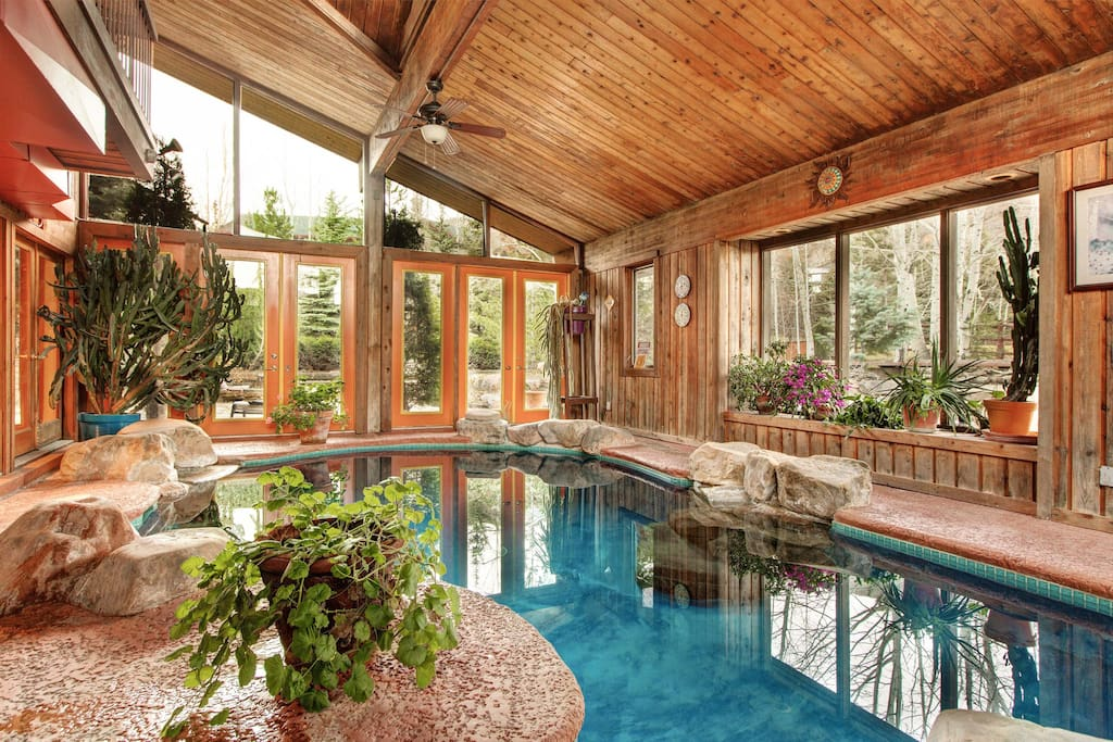 Splash around in all seasons with an indoor pool.