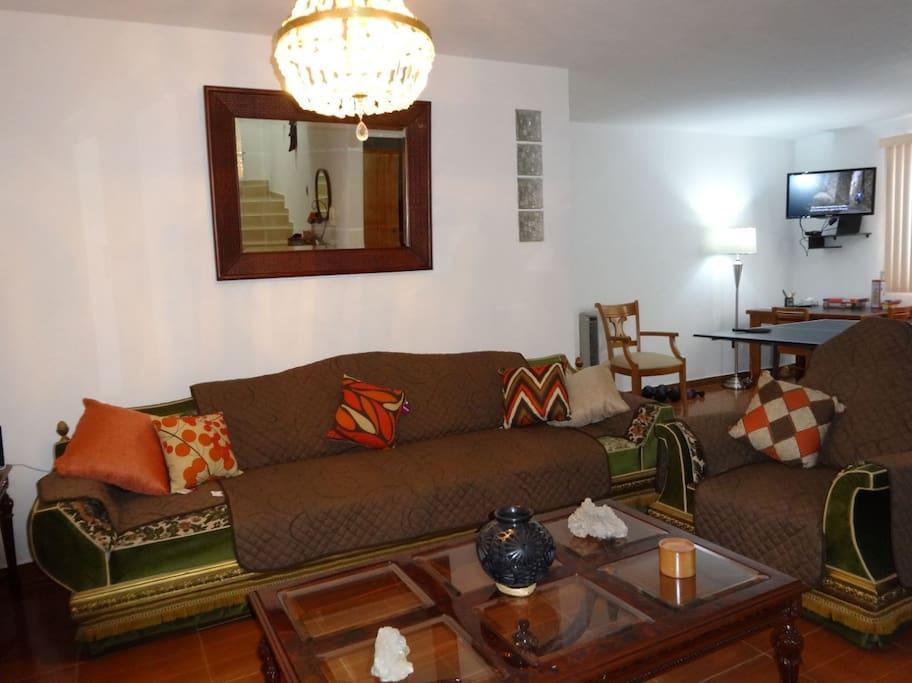 Living room/TV & play room
