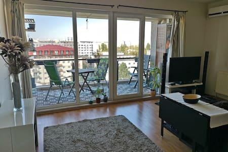 Bucharest Studio Apartment with balcony & parking