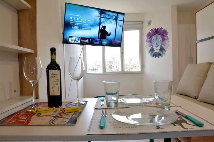 Monoambiente nuevo! diseño+confort! Zona Centro