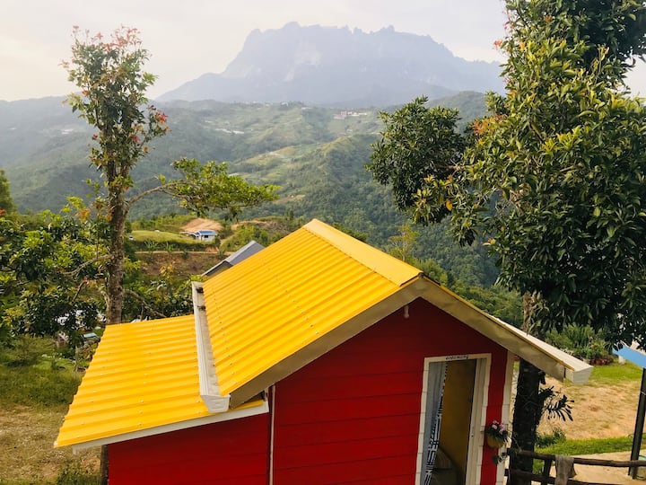little camp house with view mount kinabalu