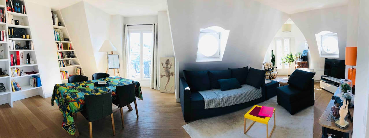 NEW!  Lovely 90m2 on the roofs of Paris