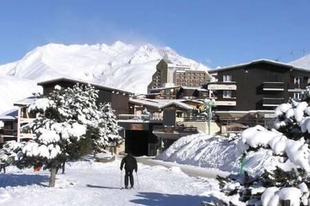 Studio 2 Alpes 1800, bas des pistes, zone piétonne - Mont-de-Lans