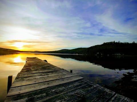 Large Lakefront Adirondack Home