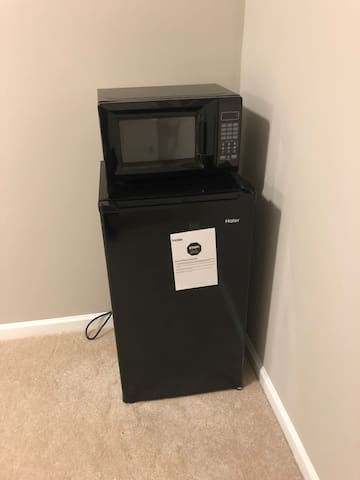microwave and refrigerator (brand new)
