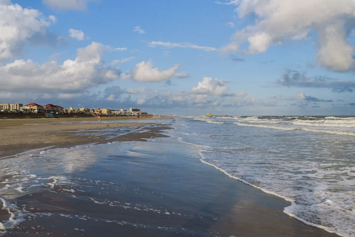 Your beach, across the street. Simply Galveston Vacation Rentals