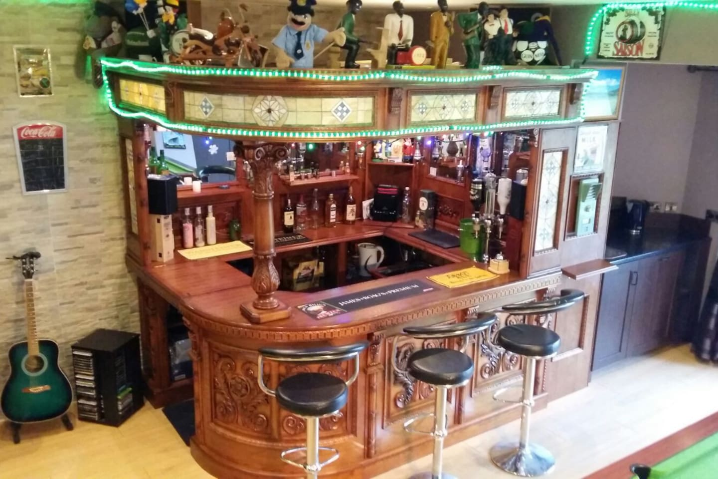 Traditional bar unstocked