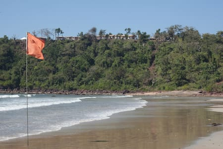 The Best View of Agonda Beach from Chattai Yoga!