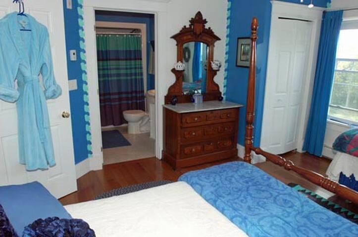 The Lapis Lazuli bedroom.