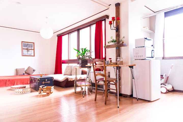 Cosy roomFree PocketWifi.Close to central Sapporo