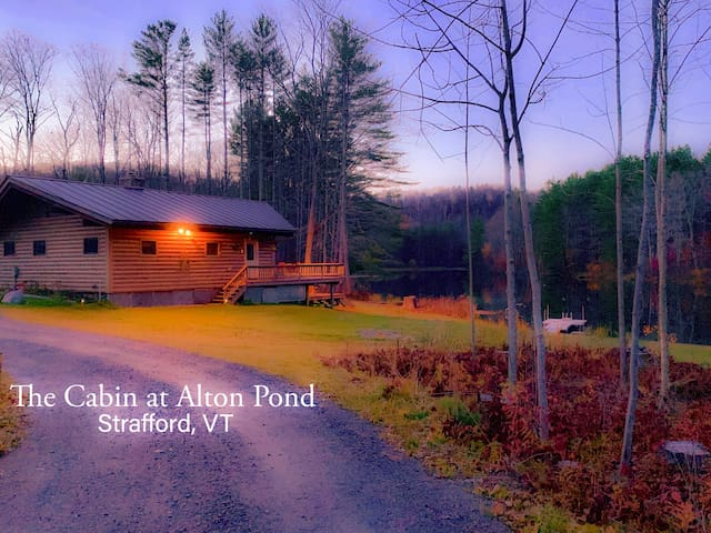 3bed/1bath cabin with pond, canoes, hiking.