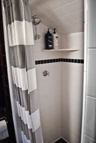 Shower in the master bedroom.